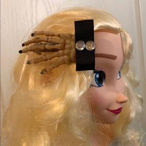 "3"" skeleton hand Halloween Day of Dead Hair Clip"